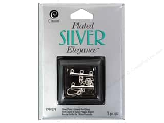 craft & hobbies: Cousin Elegance Toggle Clasp 1 pc. 3 Strand Rod Silver Plate