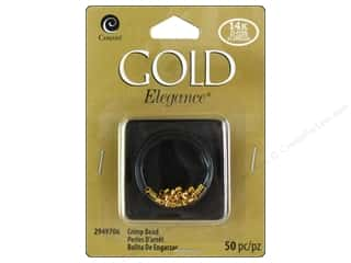 beading & jewelry making supplies: Cousin Elegance Metal Bead Crimp 50 pc. 14K Gold Plate