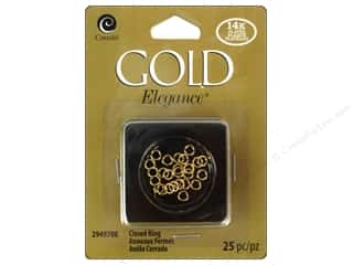 beading & jewelry making supplies: Cousin Elegance 14K Gold Plated Closed Jump Ring 25pc