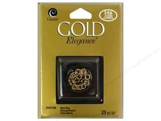 beading & jewelry making supplies: Cousin Elegance Jump Rings 25 pc. 14K Gold Plate