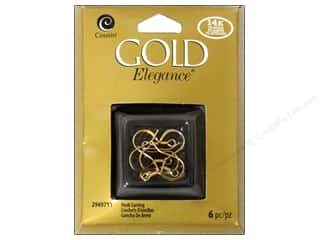 beading & jewelry making supplies: Cousin Elegance 14K Gold Plated Hook Earring 6pc