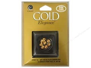 beading & jewelry making supplies: Cousin Elegance 14K Gold Plated Earring Nut 8pc