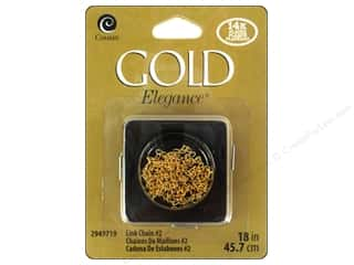 "beading & jewelry making supplies: Cousin Elegance 14K Gold Plated Chain 18"" Link #2"