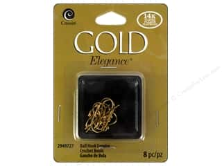 craft & hobbies: Cousin Elegance 14K Gold Plated Ball Hook Earwire 8pc