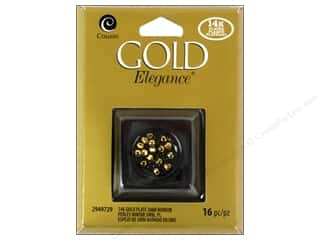 beading & jewelry making supplies: Cousin Elegance 14K Gold Plated Bead Mirror 3mm 16pc