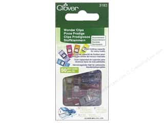 Quilting Clips: Clover Wonder Clips 50 pc. Assorted