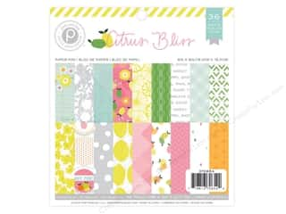 "Bo Bunny Paper Pads 6""x 6"": Pink Paislee Citrus Bliss Collection Paper Pad 6""x 6"""