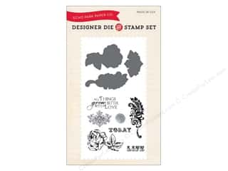 die cutting machines: Echo Park Designer Die and Stamp Set Spring Things Grow Better With Love