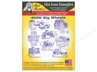 Aunt Martha's Hot Iron Transfers #4026 Big Wheels