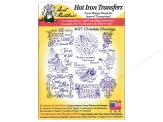 Aunt Martha: Aunt Martha's Hot Iron Transfers #4027 Christian Blessings