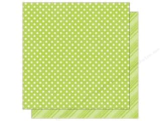 Spring Printed Cardstock: Echo Park 12 x 12 in. Paper Dots & Stripes Spring Collection Mint (25 sheets)