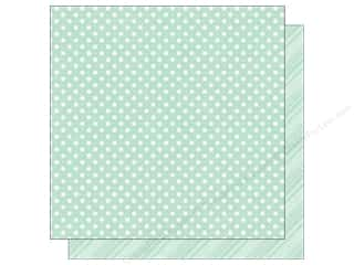 Spring Printed Cardstock: Echo Park 12 x 12 in. Paper Dots & Stripes Spring Collection Robin's Egg (25 sheets)
