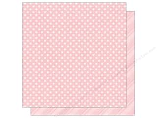 Spring Printed Cardstock: Echo Park 12 x 12 in. Paper Dots & Stripes Spring Collection Peony (25 sheets)