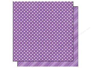Spring Printed Cardstock: Echo Park 12 x 12 in. Paper Dots & Stripes Spring Collection Grape (25 sheets)