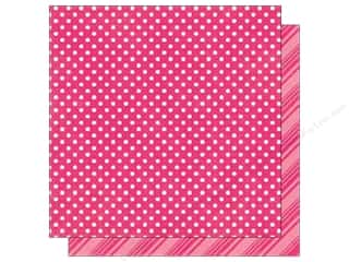 Echo Park Paper Company: Echo Park 12 x 12 in. Paper Dots & Stripes Brights Collection Hot Pink (25 sheets)