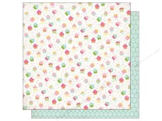 Echo Park Paper Company: Echo Park 12 x 12 in. Paper Birthday Wishes Girl Collection Cupcakes (25 sheets)