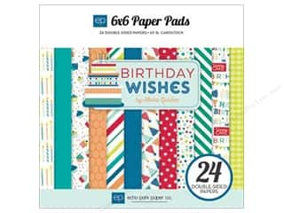 Echo Park Paper Company: Echo Park Paper Pad 6 x 6 in. Birthday Wishes Boy