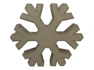craft & hobbies: PA Paper Mache Table Decor Snowflake 10 in.