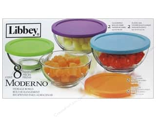 craft & hobbies: Crisa by Libbey Glass Moderno Bowl Set With Lids