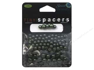 beading & jewelry making supplies: Sweet Beads Tiny Spacers Glass Pearl Assorted Size 150 pc. Green