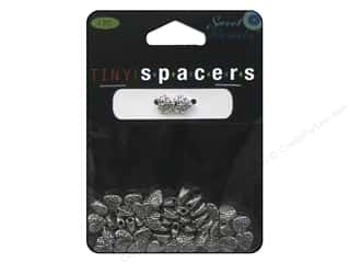 beading & jewelry making supplies: Sweet Beads Tiny Spacers Heart 6.5 mm 50 pc. Silver