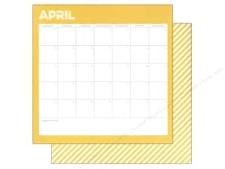Simple Stories: Simple Stories 12 x 12 in. Paper Life Documented April Calendar (25 sheets)