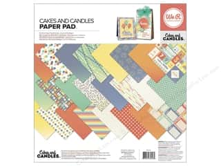 "Celebration Cardstock: We R Memory Keepers Cakes & Candles Paper Pad 12""x 12"""