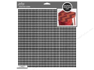 beading & jewelry making supplies: Jolee's Boutique Stickers Grad Cap Bling Black