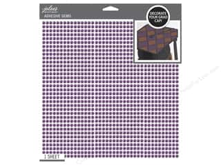 beading & jewelry making supplies: Jolee's Boutique Stickers Grad Cap Bling Purple