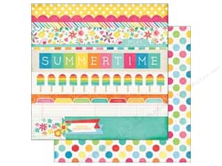 Echo Park Paper Company: Echo Park 12 x 12 in. Paper I Love Sunshine Collection Border Strips (25 sheets)