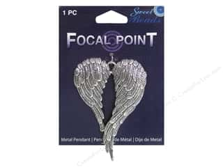 Sweet Beads EWC Focal Point Pendant Metal Wings Silver 1pc