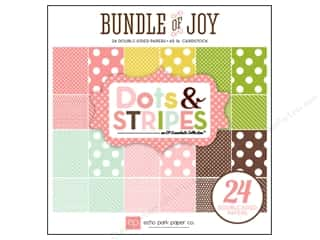 Echo Park Paper Company: Echo Park Paper Pad 6 x 6 in. Bundle of Joy Girl Dots & Stripes