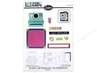 Sizzix Thinlits Die Set 16PK Card Instant Camera by Rachael Bright