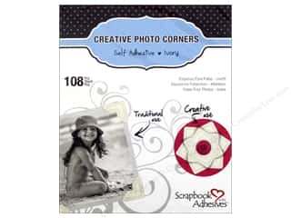 photo corner: 3L Scrapbook Adhesives Photo Corners Paper 108 pc. Ivory