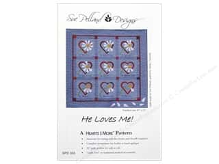 Clearance: Sue Pelland Designs Hearts And More He Loves Me Pattern