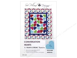Clearance: Sue Pelland Designs Hearts And More Conversation Hearts Pattern
