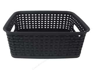Craft Organizers Tote: Storage Studios Weave Design Plastic Bin Small Black