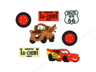 craft & hobbies: Jesse James Dress It Up Embellishments Disney Cars