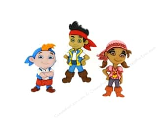novelties: Jesse James Dress It Up Embellishments Disney Jake & The Never Land Pirates