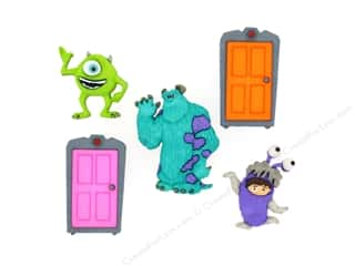 scrapbooking & paper crafts: Jesse James Dress It Up Embellishments Disney Monsters, Inc.