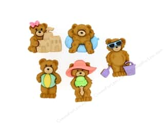 Jesse James Dress It Up Embellishments Summer Bears