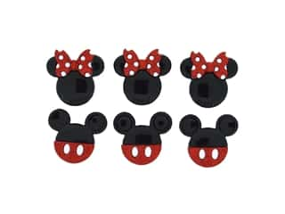 craft & hobbies: Jesse James Dress It Up Embellishments Disney Mickey & Minnie Glitter
