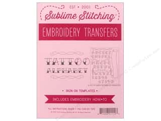 yarn & needlework: Sublime Stitching Patterns Tattoo Alphabet Pattern