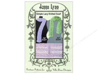Villa Rosa Designs Jenna Lynn Knitted Scarf Pattern Card