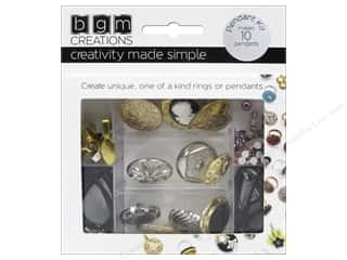 beading & jewelry making supplies: Buttons Galore BGM Creations Vintage Pendant Kit