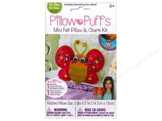 weekly special pillow: Darice Pillow Puff Felt & Charm Kit Mini Butterfly Pillow