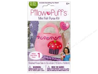 Weekly Specials Darice ArtLover Kits: Darice Pillow Puff Felt Kit Cupcake Purse