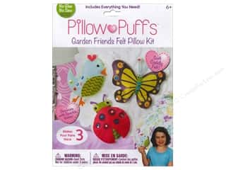 Weekly Specials Halloween Stickers: Darice Pillow Puff Felt Kit Garden Friends Pillow