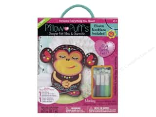 weekly special pillow: Darice Pillow Puff Felt & Charm Kit Designer Big Monkey