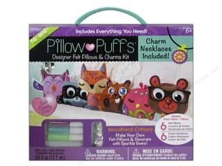 weekly special pillow: Darice Pillow Puff Felt & Charm Kit Designer Mega Critters